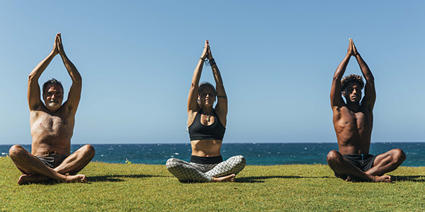 Particpants of a Surf and Yoga Retreat