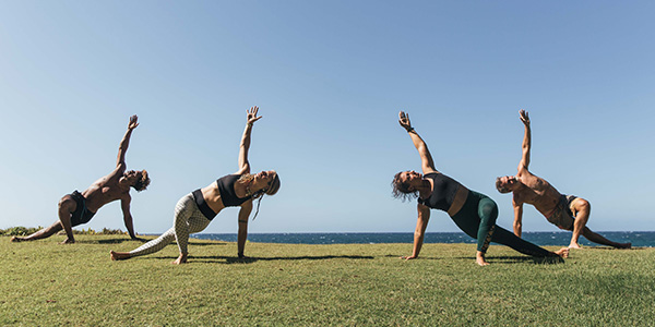 yoga retreat particpants